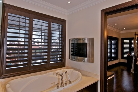 Custom Wood Shutters Inside
